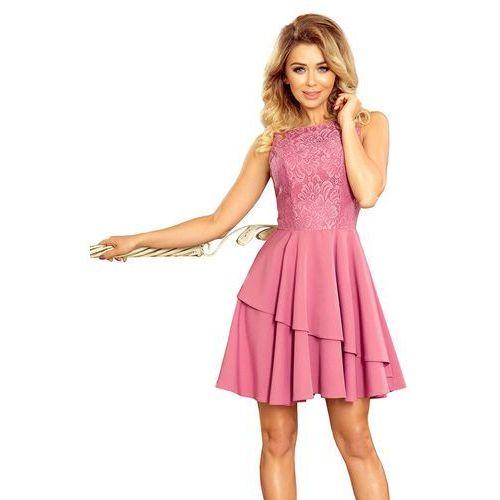 0be2cc3e8f Elegancka Rozkloszowana Sukienka z Koronką