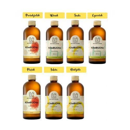 Tygodniowy Zestaw KOMBUCHY - Zdrowe Jelita! - Detoks sokowy, 7 x 300 ml