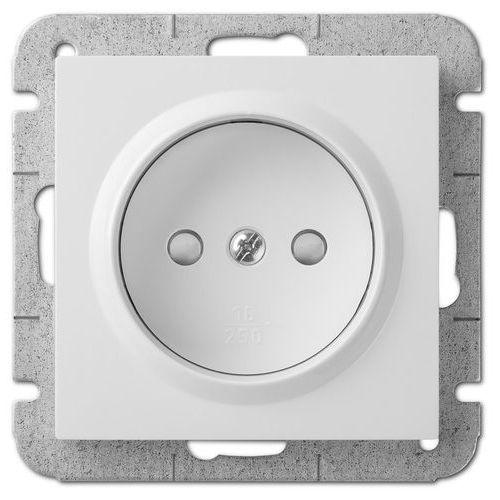Elektro Plast Sentia Gniazdo 2P z przesłonami torów prądowych Biały - 1440-10, kup u jednego z partnerów