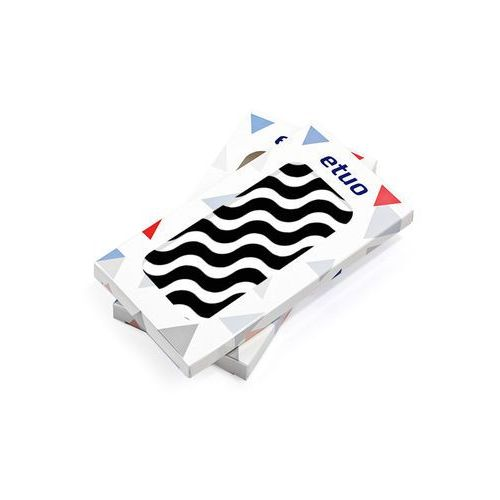 Samsung galaxy j7 prime - etui na telefon fantastic case - biało-czarna fala marki Etuo fantastic case