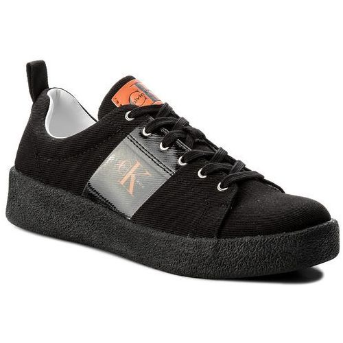 Sneakersy jeans - gerardo twill s0528 black marki Calvin klein