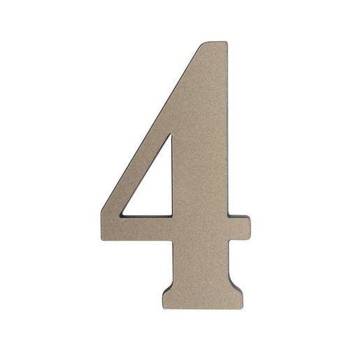 Cyfra 4 wys. 5 cm PVC srebrna (5905367001712)