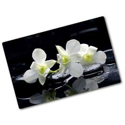 Wallmuralia.pl Deska do krojenia szklana orchidea