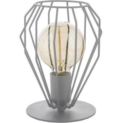 Tklighting Lampa druciana stołowa lampka loft tk lighting brylant 1x60w e27 szara 3031 (5901780530310)
