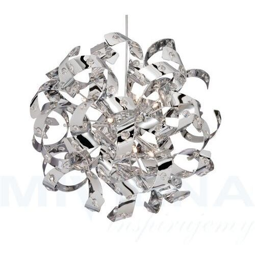 Lśniąca lampa wisząca CURLS z kryształami 50, 9812-12CC