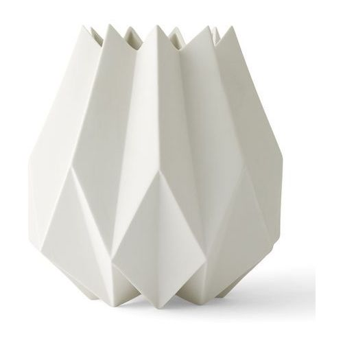 Menu Wazon folded vase tall white