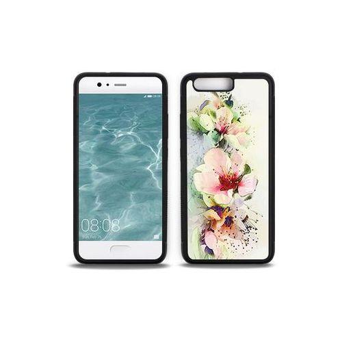 Huawei p10 - etui na telefon aluminum fantastic - róże herbaciane marki Etuo aluminum fantastic