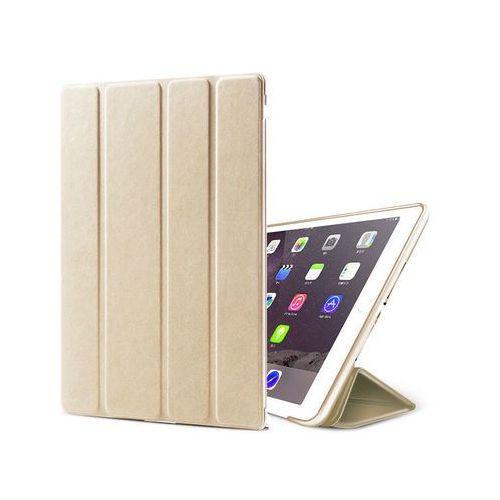 Etui smart case apple ipad 2 3 4 silikon złote + szkło - złoty marki Alogy