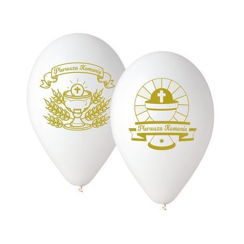 Balony komunijne pierwsza komunia 5szt marki Oms