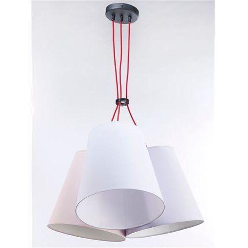 Namat Lampa wisząca necar 3 3221 - pastelowy łosoś/pastelowa jagoda/biały mat