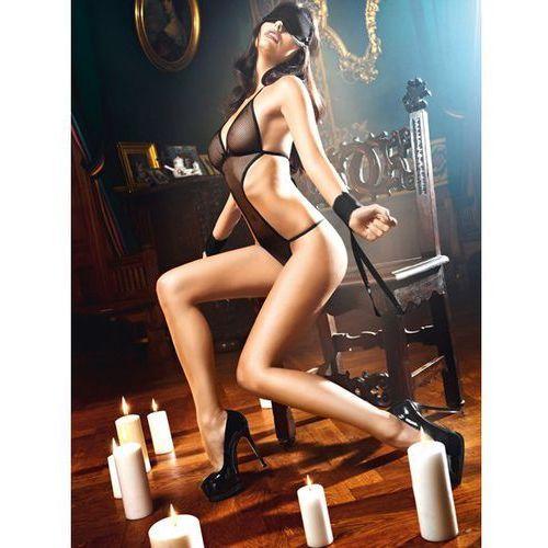 Przebranie niewolnicy - baci love slave set fishnet black one size czarny marki Baci lingerie
