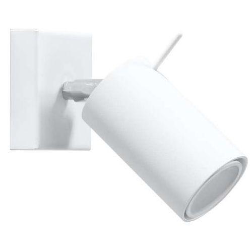 Kinkiet lampa ścienna spark sm87 regulowana oprawa metalowa tuba biała marki Mdeco