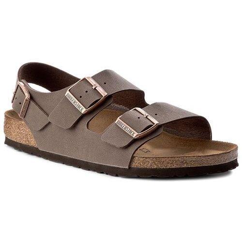 Sandały - milano bs 0634501 mocca marki Birkenstock