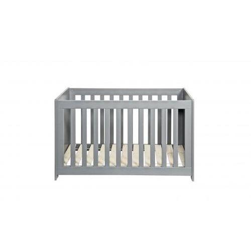 Woood łóżeczko dziecięce szare szczotkowane 60x120cm 363406-bet