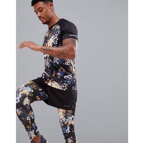 t-shirt with floral print and raglan sleeves - black marki Asos 4505