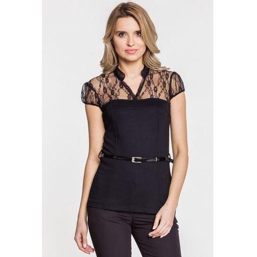 Bluzka koronkowa - Duet Woman, kolor czarny