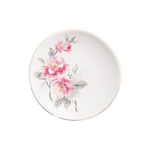 6 talerzy deserowych kwiat jabłoni marki Mieroszów