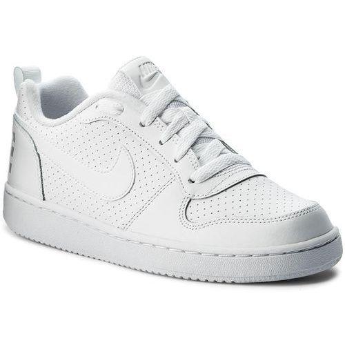 Buty NIKE - Court Borough Low (GS) 839985 100 White/White/White