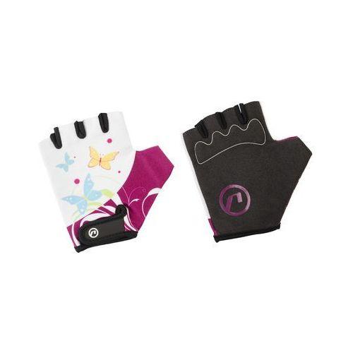 Rękawiczki dziecięce Accent Daisy biało-fioletowe L/XL (5902175633692)