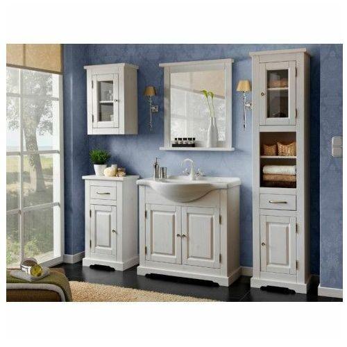 Zestaw drewnianych szafek łazienkowych dorset 85 marki Producent: elior