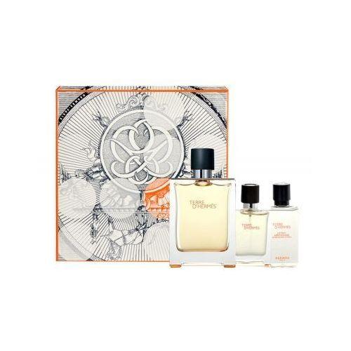 Hermes terre d´hermes zestaw edt 100 + 12,5ml edt + 40ml woda po goleniu dla mężczyzn