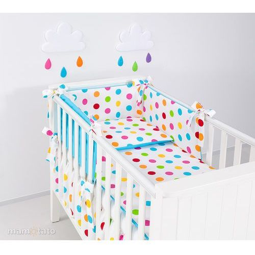Mamo-tato ochraniacz rozbieralny do łóżeczka 70x140 cm kule lato małe / niebieski