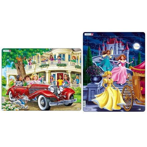 puzzle koleżanki w kabriolecie i trzy księżniczki marki Larsen