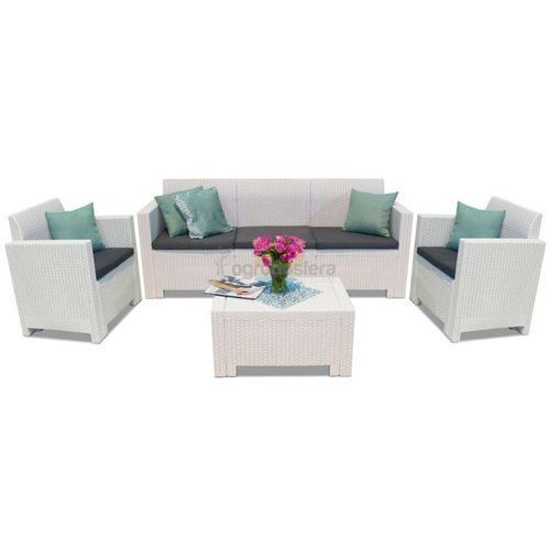 Białe meble technorattanowe z 3-osobową sofą Nebraska 3 (8003723090688)