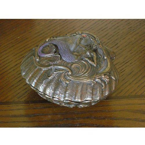 Szkatułka na biżuterię muszla z syreną -  marki Veronese