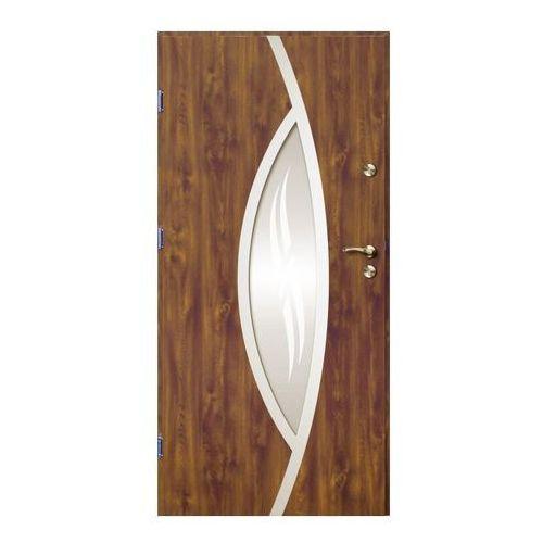 Drzwi zewnętrzne O.K.Doors Otto Ellise 90 lewe złoty dąb