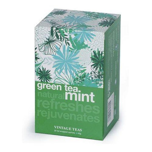 Zielona herbata  z aromatem mięty - 30x1,5g marki Vintage teas