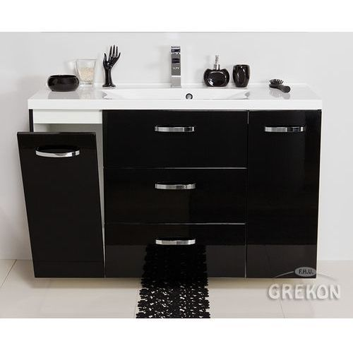 Szafka wisząca czarny połysk z umywalką 120/48k seria jona c marki Gante