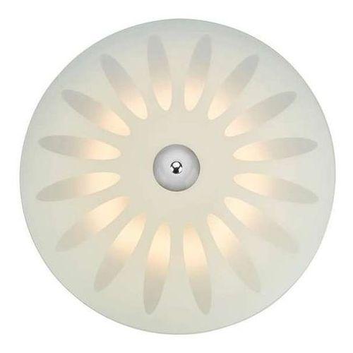 Natynkowa lampa sufitowa petal 107166 szklana oprawa okrągła led 15w plafon biały marki Markslojd