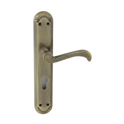 Klamka drzwiowa atalanta 72 mm na wkładkę patyna marki Ambition