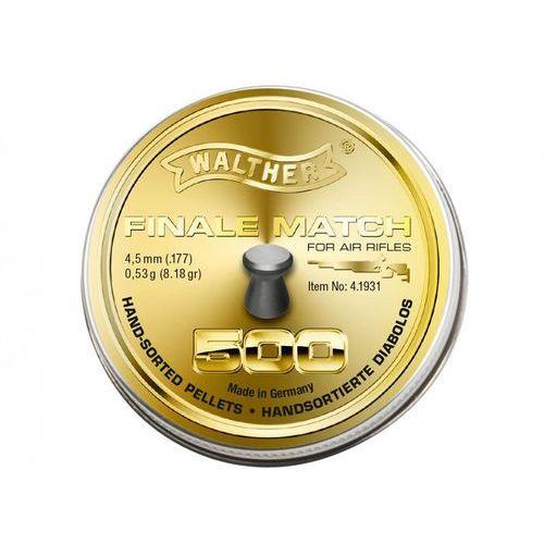 Śrut Walther Finale Match 500 szt. 4,5 mm