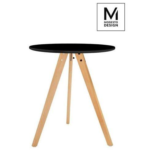 MODESTO stół TRIPOD FI 60 czarny - blat MDF, nogi bukowe