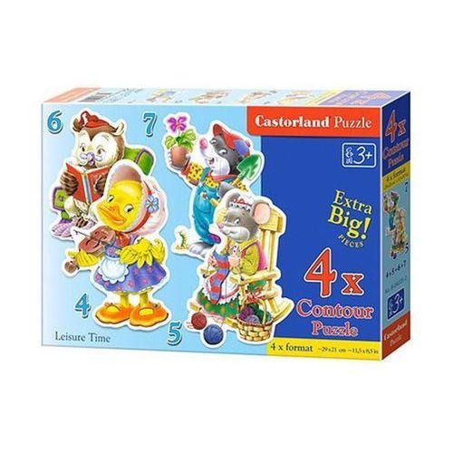 Puzzle x 4 - Zwierzęta i ich wolny czas CASTOR