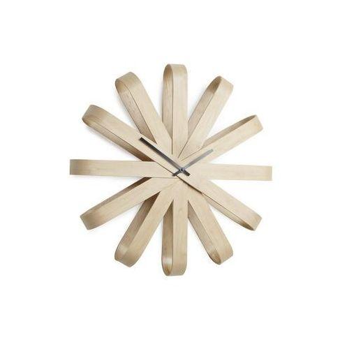 Umbra - zegar ścienny ribbon - jasne drewno