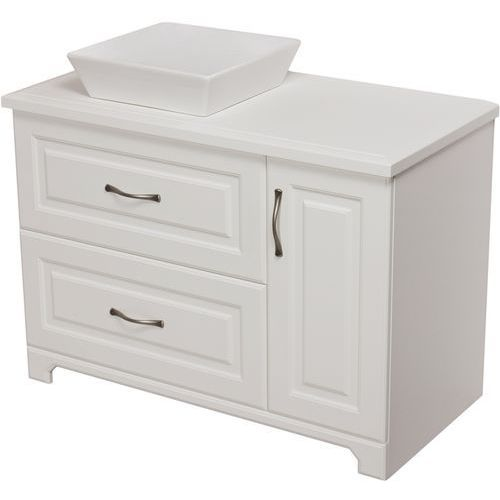 Szafka stojąca z umywalką biała 100 cm seria Finea