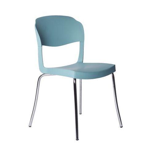 Krzesło Evo Strass Green niebieskie