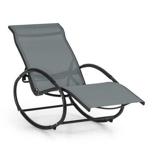 Blumfeldt Santorini fotel bujany leżak szary (4260509684163)