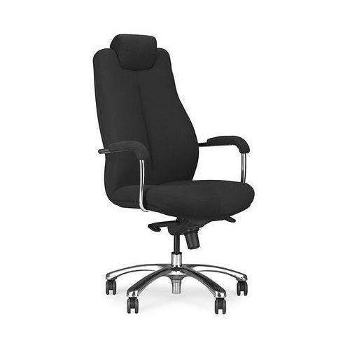 Fotel gabinetowy SONATA XXL LUX HRUA steel17 chrome, Nowy Styl