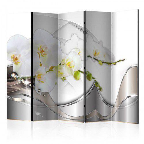 Parawan 5-częściowy - Perłowy taniec orchidei II [Room Dividers], A0-PARAVENT215 (7809911)