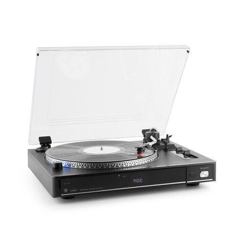 auna TT-992 USB gramofon 33 i 45 rpm MP3 USB SD encoder czarny
