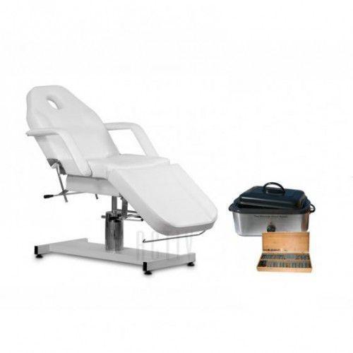Zestaw Kosmetyczny Fotel 210 + Podgrzewacz 18l + Komplet Kamieni 64szt., 40318
