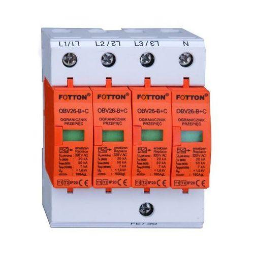 Ogranicznik przepięć FOTTON OBV26 klasa I,II (B+C) 4P 20/50kA 275V AC