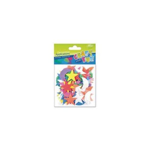 Ozdoba dekoracyjna piankowa gwiazdy i księżyce marki Craft with fun