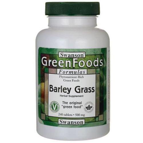 Swanson health products Swanson młody jęczmień (barley grass) 500 mg 240 tabletek (0087614060033)