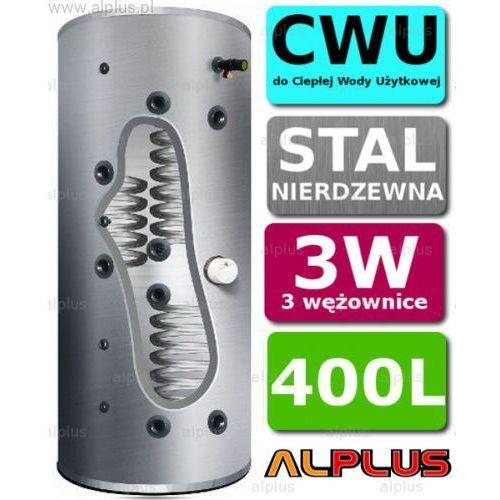 Bojler JOULE CYCLONE 400L 3-wężownice 3W nierdzewka wymiennik podgrzewacz CWU Wysyłka GRATIS!