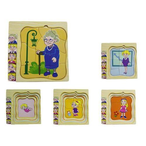 Układanka drewniana warstwowa z postaciami kobieta 1573667 - od 24,99zł darmowa dostawa kiosk ruchu marki Brimarex